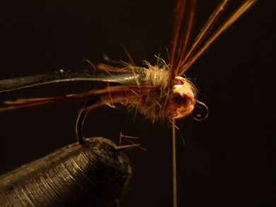 Fly tying - Sulphur on a Jig Hook - Step 12
