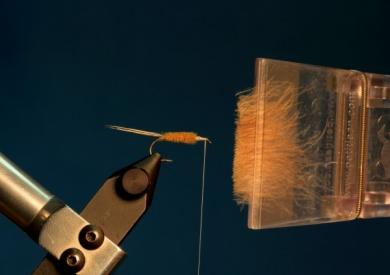 Fly tying - CDC DUN - Step 7
