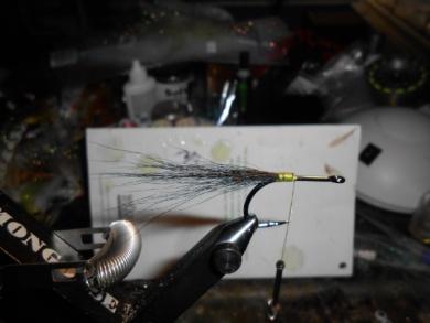 Fly tying - Triple D (Dave's Dark Desire) - Step 1