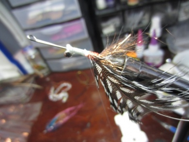 Fly tying - Blue & Pink - Step 4