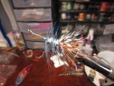 Fly tying - Blue & Pink - Step 8