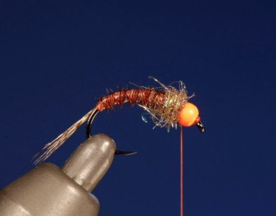 Fly tying - UV HOT HEAD PHEASANT TAIL - Step 7