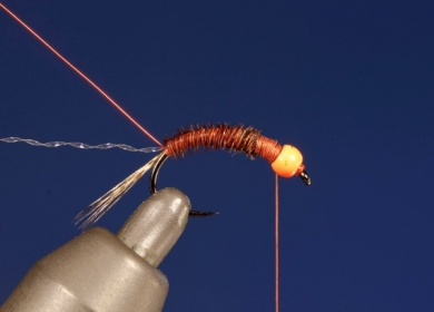 Fly tying - UV HOT HEAD PHEASANT TAIL - Step 5