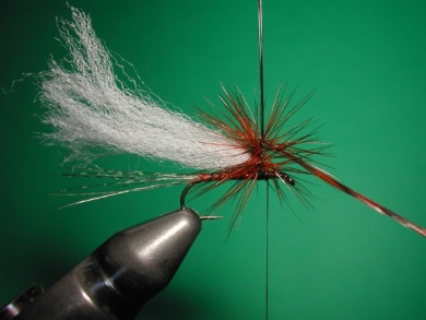 Fly tying - Paraloop with wings - Step 9