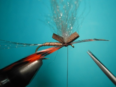 Fly tying - My parachute spent. - Step 4