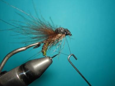 Fly tying - Caddis emerger - Step 14