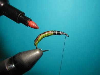 Fly tying - Caddis emerger - Step 6