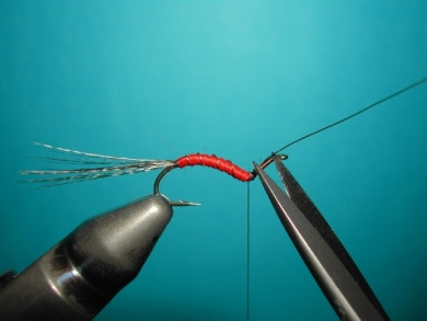 Fly tying - Hook bent fly - Step 8