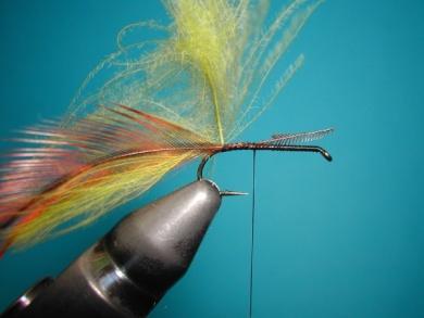 Fly tying - Palmer - Step 2