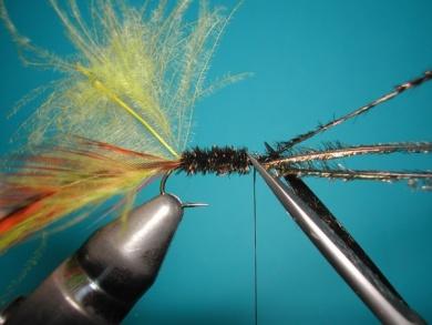 Fly tying - Palmer - Step 4